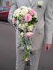 Свадебный букет невесты ниспадающий