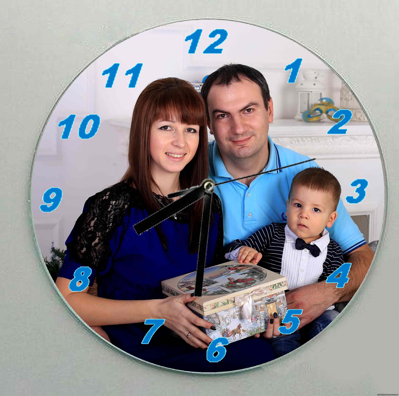 Часы с фотографией на циферблате -