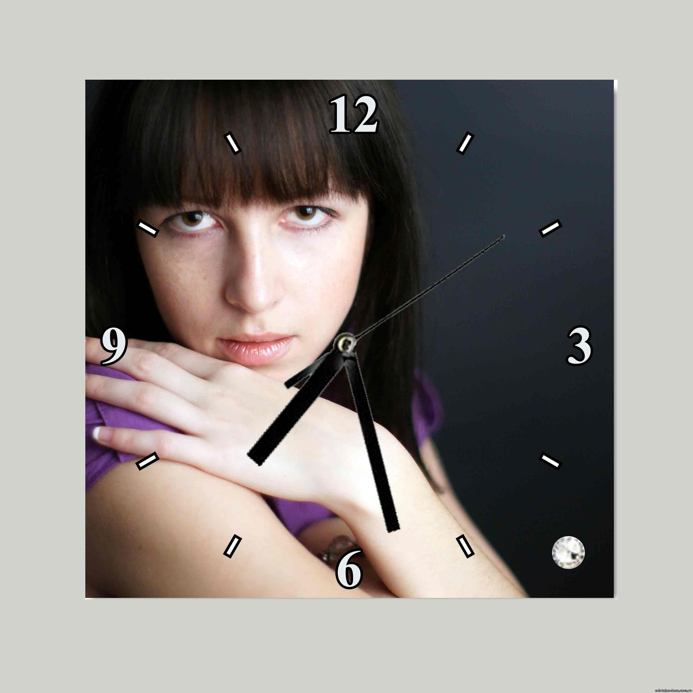 Часы с нанесенным портретом