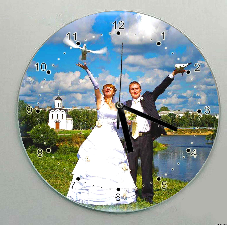 Часы с фото - Наша свадьба