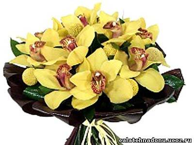 Орхидея для букета из конфет