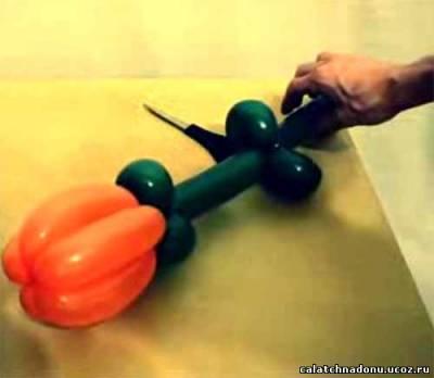 Тюльпан для букета из воздушных шаров